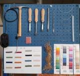 cuerda muelles,tijeras,fornituras,martillo,grapas